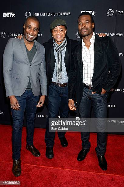 Clement Virgo Cuba Gooding Jr and Lyriq Bent attend 'The Book Of Negroes' Screening at The Paley Center for Media on December 16 2014 in New York City