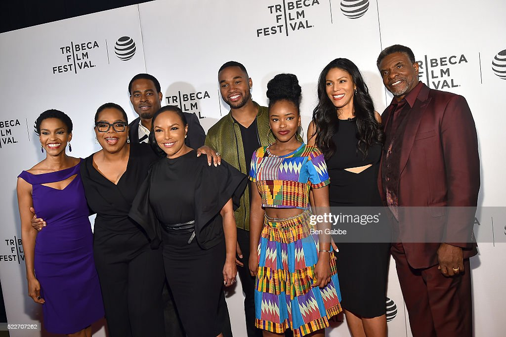 Clement Virgo, Kim Hawthorne, Oprah Winfrey, Lynn Whitfield, Lamman Rucker, Tye White, Merle Dandridge and Keith David attend the Tribeca Tune In: Greenleaf at BMCC John Zuccotti Theater on April 20, 2016 in New York City.