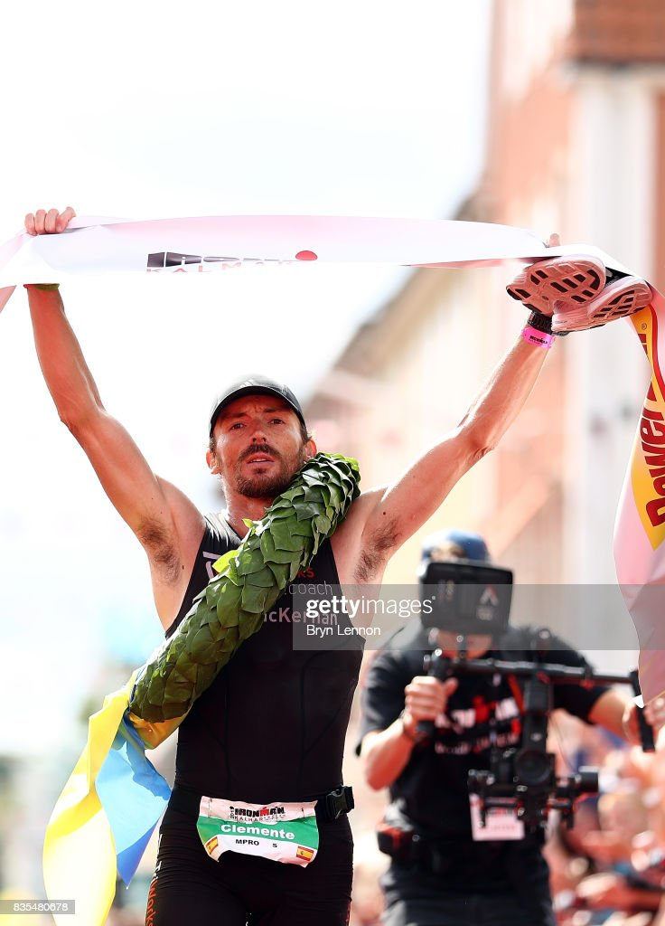 Clemente Alonso-McKernan of Spain crosses the line to win IRONMAR Kalmar on August 19, 2017 in Kalmar, Sweden.