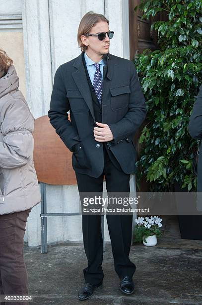 Clemente Lequio attends the funeral service for Princess Sandra Torlonia grand daughter of King Alfonso XIII of Spain on January 08 2015 in Turin...