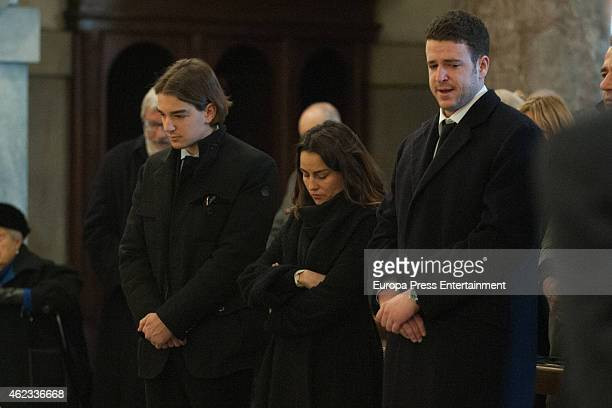 Clemente Lequio Maria Palacios and Alex Lequio attend the funeral service for Princess Sandra Torlonia grand daughter of King Alfonso XIII of Spain...