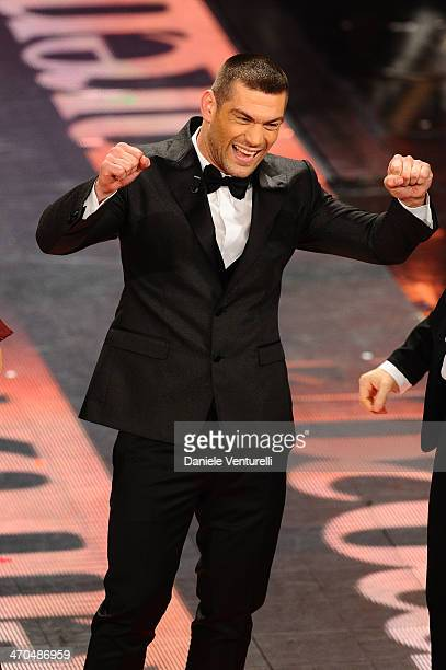 Clemente Russo attends second night of the 64th Festival di Sanremo 2014 at Teatro Ariston on February 19, 2014 in Sanremo, Italy.