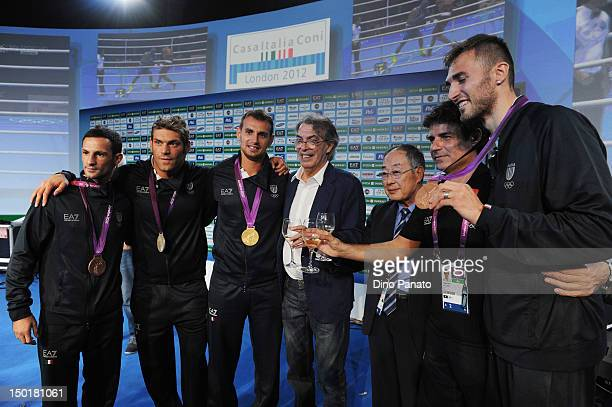 Clemente Russo of Italy silver medal in Men's Heavy Boxing Mauro Sarmiento bronze medal in the Men's 80kg Taekwondo Vincenzo Mangiacapre bronze medal...