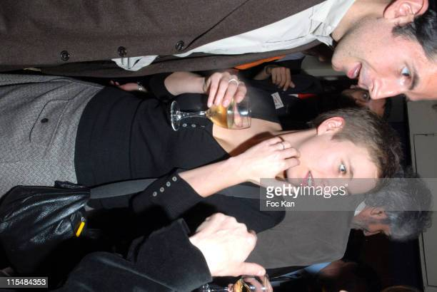 Clementine Autain and guest during Marianne Magazine Celebrates it 10th Anniversary March 27 2007 at Cirque d Hiver in Paris France
