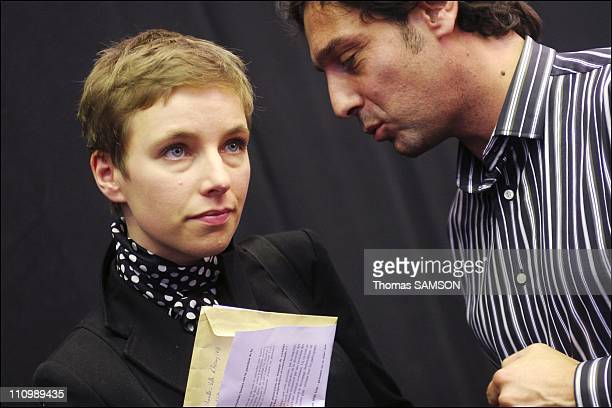 Clementine Autain at the national meeting of united collectives in Paris France on October 12 2007