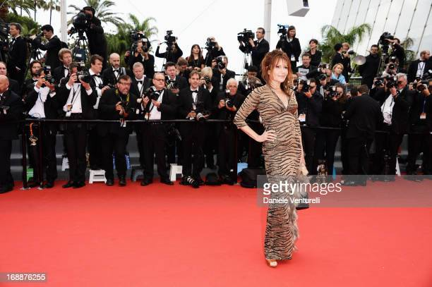 Clementine Celarie attends the Premiere of 'Jeune Jolie' at The 66th Annual Cannes Film Festival at Palais des Festivals on May 16 2013 in Cannes...