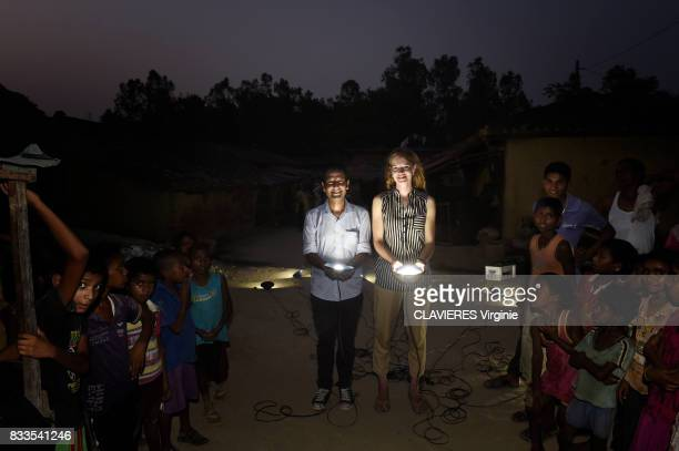 Clementine Chambon and her startup OORJA Team brings light/Electricity in the rural village of Sarmantara in the state of Uttar Pradesh on june 04...