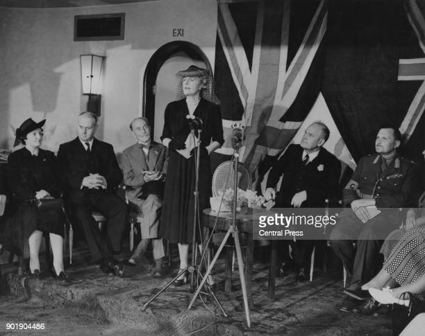 Clementine Churchill the wife of Prime Minister Winston Churchill reopens a club for the New Zealand forces in London during World War II 9th August...