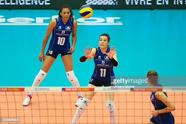 Clementine Druenne of France during the CEV European League match at Salle Colette Besson on June 11 2016 in Rennes France