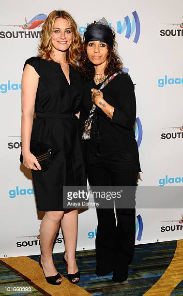 Clementine Ford and Linda Perry arrive at the 21st Annual GLAAD Media Awards at San Francisco Marriott Marquis on June 5 2010 in San Francisco...