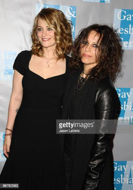 Clementine Ford and Linda Perry attend the LA Gay Lesbian Center's An Evening With Women at The Beverly Hilton Hotel on May 1 2010 in Beverly Hills...