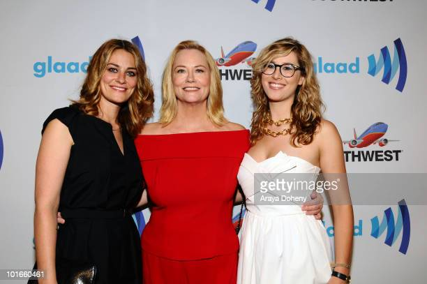 Clementine Ford Cybill Shepherd and Ariel ShepherdOppenheim arrive at the 21st Annual GLAAD Media Awards at San Francisco Marriott Marquis on June 5...