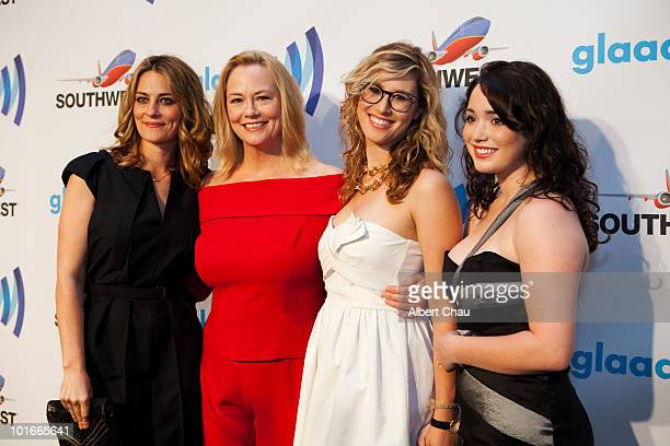 Clementine Ford Cybill Shepherd Ariel ShepherdOppenheim and Carmen Chambers arrive at the 21st Annual GLAAD Media Awards held at Marriot Marquis on...