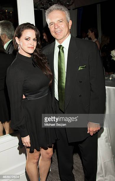 Clementine Heath and Anthony Denison attend Icons of The Awards presented by Geraldo Jewelry on February 19 2015 in Los Angeles California