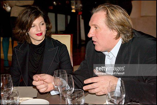 Clementine Igou and Gerard Depardieu at Special Party For Claude Chabrol To Celebrate His 50 Year Career And The Launch Of His Movie Bellamy At Park...
