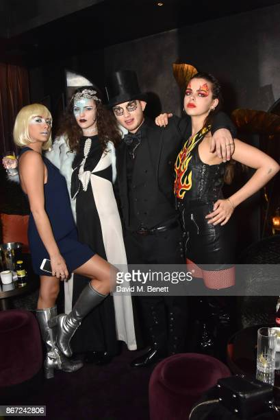 Clementine Linieres Daisy Maybe Rafferty Law and Bee Beardsworth attend Dali's Dream Halloween party hosted by Velocity Black and The Mandrake Hotel...
