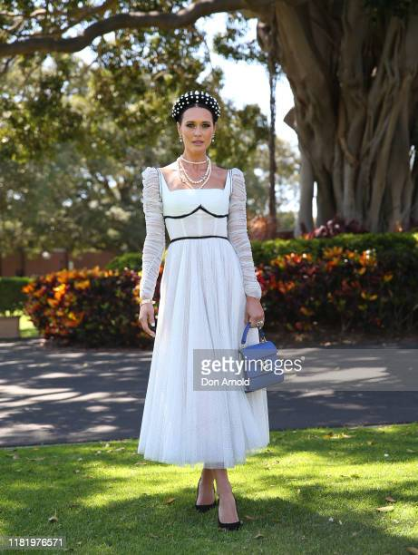 Clementine McVeigh attends Everest Race Day at Royal Randwick Racecourse on October 19 2019 in Sydney Australia