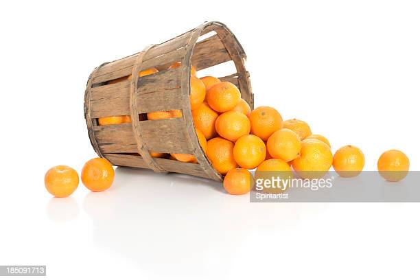 Clementines in a Rustic Basket