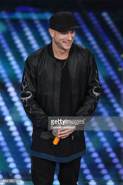 Clementino attends the opening night of the 67th Sanremo Festival 2017 at Teatro Ariston on February 7 2017 in Sanremo Italy