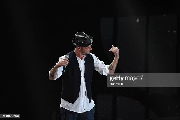 Clementino during the 66th Sanremo Music Festival on February 11 2016