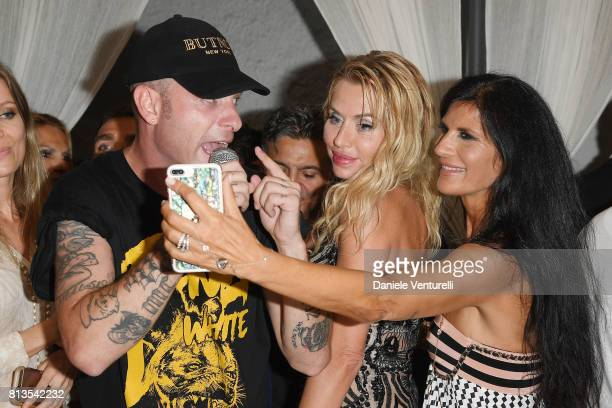 Clementino Valeria Marini and Pamela Prati attends 2017 Ischia Global Film Music Fest on July 12 2017 in Ischia Italy