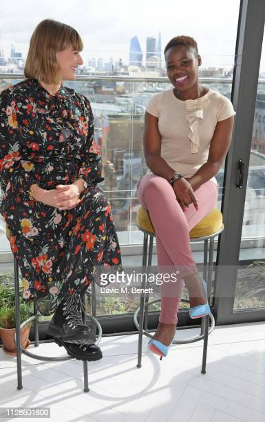 Clemmie Hooper and Relebohile Leoatha attend the mothers2mothers Wonder Women Tea at Bourne Hollingsworth's Garden Room on March 4 2019 in London...