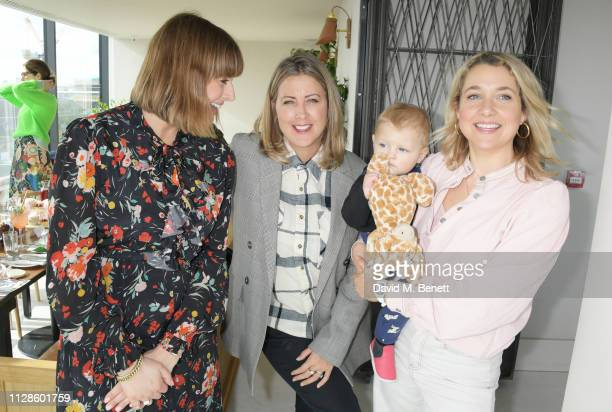 Clemmie Hooper Clemmie Telford and Zoe de Pass attend the mothers2mothers Wonder Women Tea at Bourne Hollingsworth's Garden Room on March 4 2019 in...