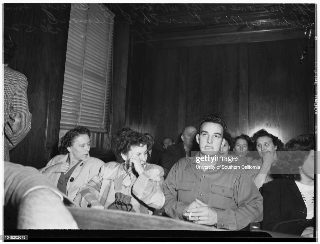 Clemons bigamy preliminary, 1952 : ニュース写真