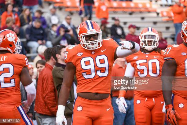 Clemson defensive lineman Clelin Ferrell during pregame between the Clemson Tigers and the Florida State Seminoles at Memorial Stadium in Clemson SC...