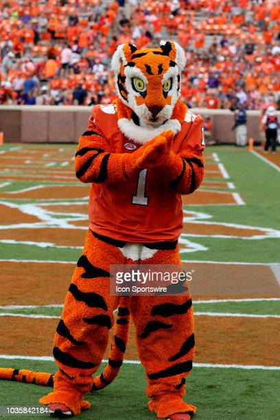 Clemson mascot during action between Georgia Southern and Clemson on September 15 at Clemson Memorial Stadium in Clemson SC