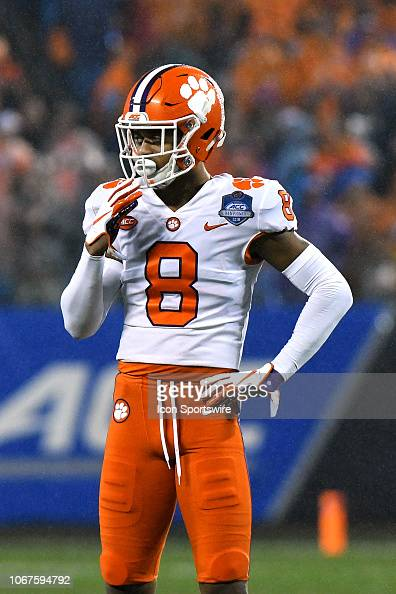 Clemson Tigers cornerback A J  Terrell looks to the sideline