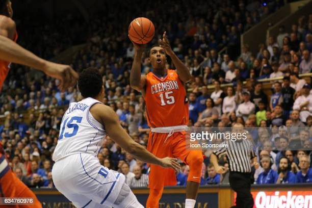 Clemson Tigers forward Donte Grantham during a men's basketball game between the Clemson Tigers and the Duke Blue Devils on February 11 at Cameron...