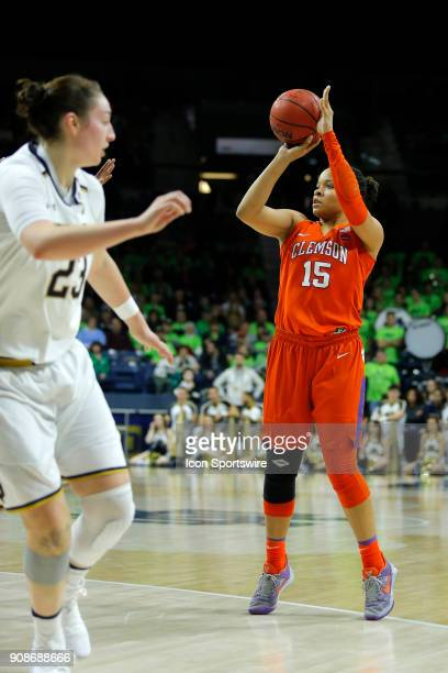 Clemson Tigers guard Jaia Alexander during the game between the Clemson Tigers and Notre Dame Fighting Irish on January 21 at Purcell Pavilion in...