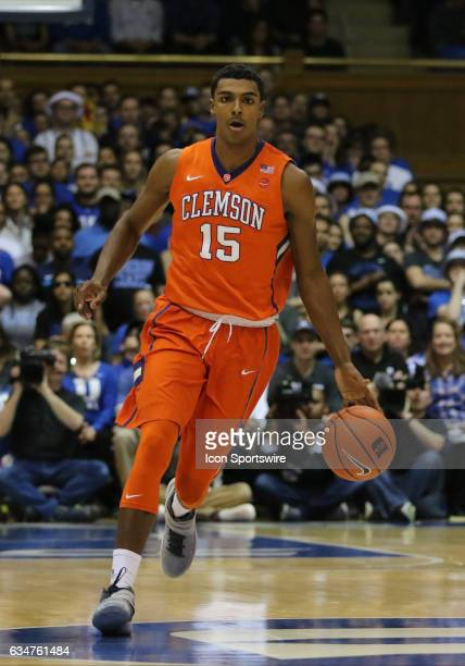 Clemson Tigers guard Shelton Mitchell during a men's basketball game between the Clemson Tigers and the Duke Blue Devils on February 11 at Cameron...