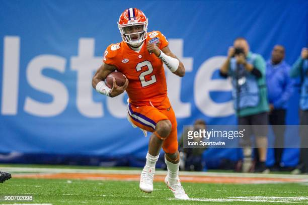 Clemson Tigers quarterback Kelly Bryant rushes the ball during the Allstate Sugar Bowl between the Alabama Crimson Tide and the Clemson Tigers at the...