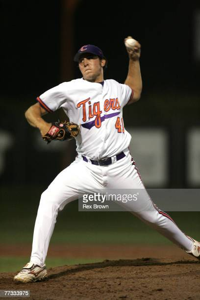 Clemson's Daniel Moskos came into to close out North Carolina A&T as the Tigers won 12-2 during the NCAA Regional June 3 at Doug Kingsmore Stadium,...