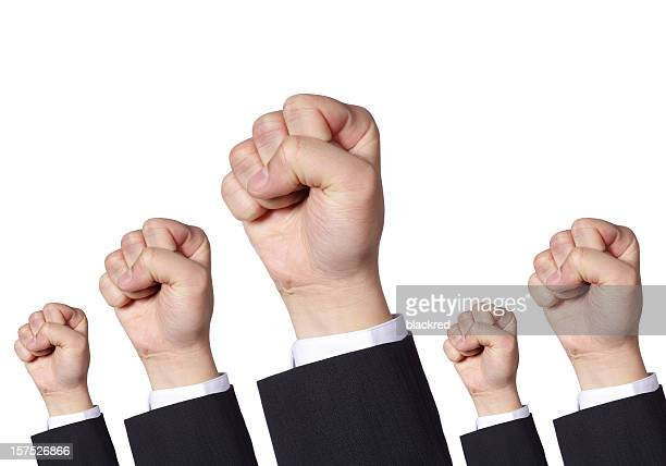 Clenched Fists Protesting