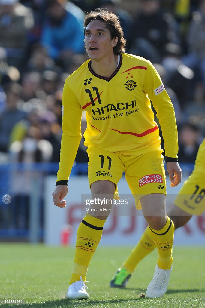 Cleo #11 of Kashiwa Reysol looks on during the pre season friendly between Kashiwa Reysol and JEF United Chiba at Hitachi Kashiwa Soccer Stadium on February 17, 2013 in Kashiwa, Japan.