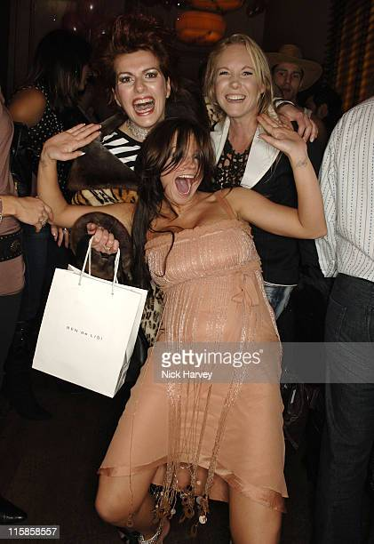Cleo Rocas AnnMarie Thomson and Kerry Katona during Henri Zimand and His Charity 'Anda's Spirit' Sponsor Pink Ladies London Launch Party at London...