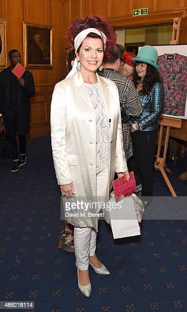 Cleo Roccas attends the Sorapol Spring/Summer 2016 London Fashion Week Show at The Royal College of Surgeons on September 19 2015 in London England