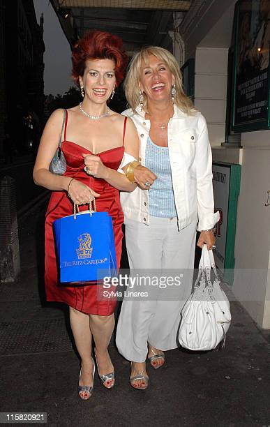 Cleo Rocos and Carol Malone during Cleo Rocos Sighting at the Ivy Restaurant in London June 13 2007 at The Ivy Restaurant in London Great Britain
