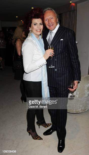 Cleo Rocos and Harold Tillman attend The Evening Standard London Fashion Week Party hosted by Geordie Greig at The Mayfair Hotel on February 16 2011...