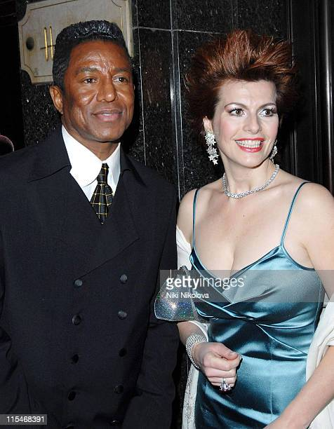 Cleo Rocos and Jermaine Jackson during Harrods Rocks A Celebration of Rock Music and the Guitar Launch Party at Harrods in London Great Britain