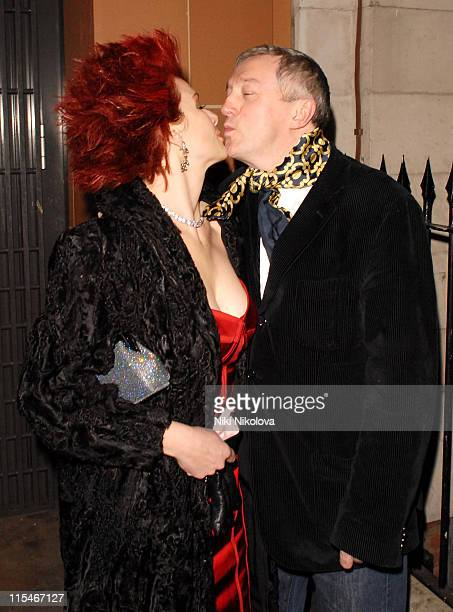 Cleo Rocos and Louis Walsh during Cleo Rocos and Louis Walsh Sighting at Cipriani's February 15 2007 at Cipriani's Restaurant in London Great Britain