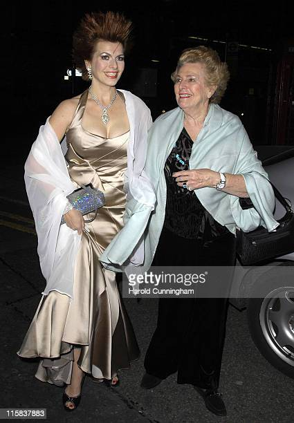 Cleo Rocos and mother during Celebrity Big Brother Wrap Party at Bloomsbury Ballroom in London Great Britain