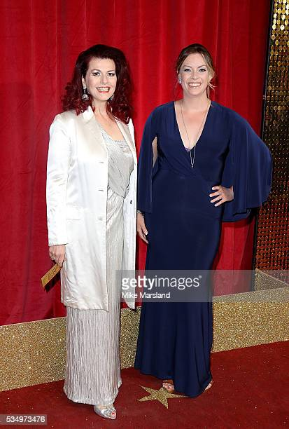 Cleo Rocos and Sharon Marshall attend the British Soap Awards 2016 at Hackney Empire on May 28 2016 in London England