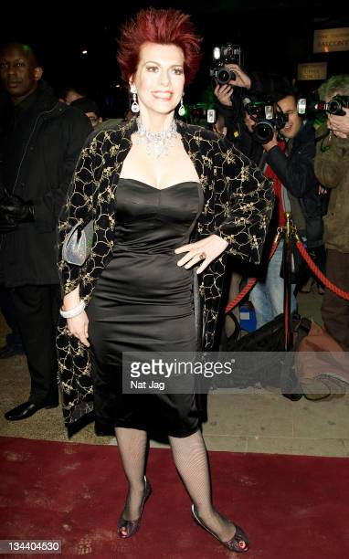 Cleo Rocos arrives for the Thriller Live Press Night at the Lyric Theatre on January 21 2009 in London England