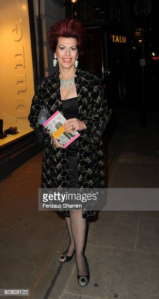 Cleo Rocos attends the book launch party for Nicky Haslam's autobiography 'Redeeming Features' on November 5 2009 in London England
