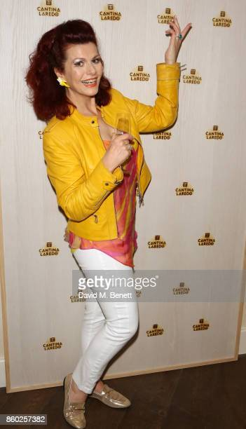 Cleo Rocos attends the launch of The Great Eight Guacamoles London's first Guacamoles and Tequila Bar at Cantina Laredo on October 11 2017 in London...