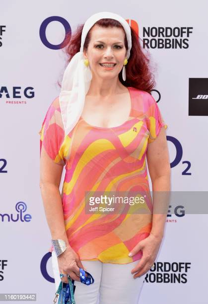 Cleo Rocos attends the Nordoff Robbins O2 Silver Clef Awards 2019 at the Grosvenor House on July 05 2019 in London England